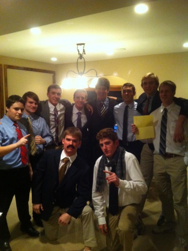 Senior boys gather for their fantasy high-school hockey draft