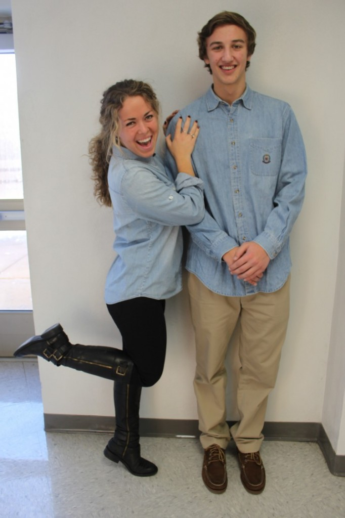 Seniors Jason Kosch and Madeline Roberts pose for their couples picture.
