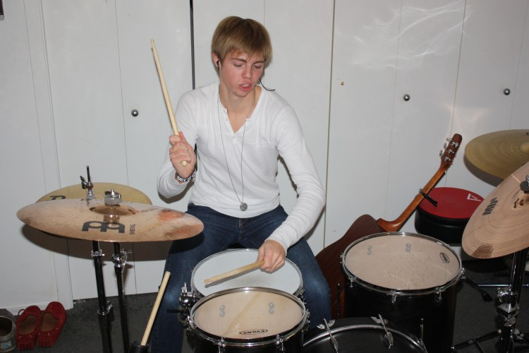 Junior Lars Oslund, member of Falling From Friday, and his fellow bandmates entered in a competition to perform at Warped Tour in Canterbury Park.