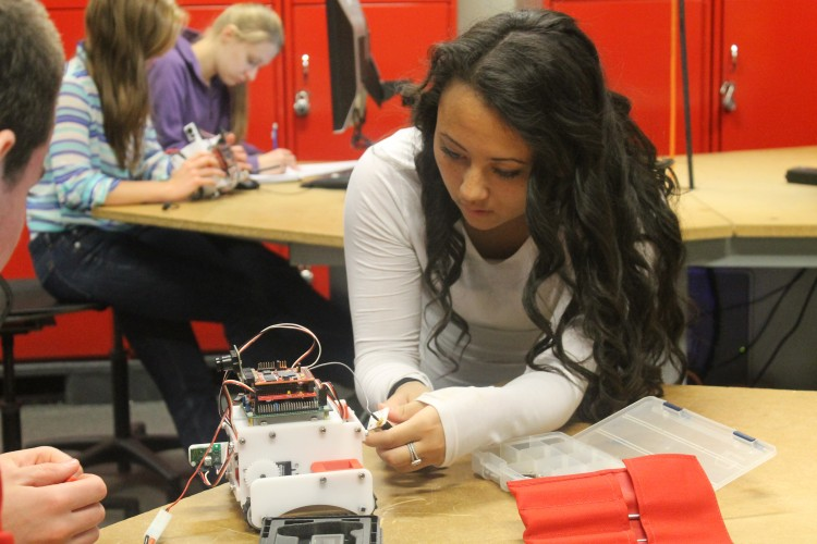Senior+Tara+Fan+is+one+of+sixteen+engineering+students+traveling+to+the+Netherlands+to+compete+in+the+Robocup+2013+competition.