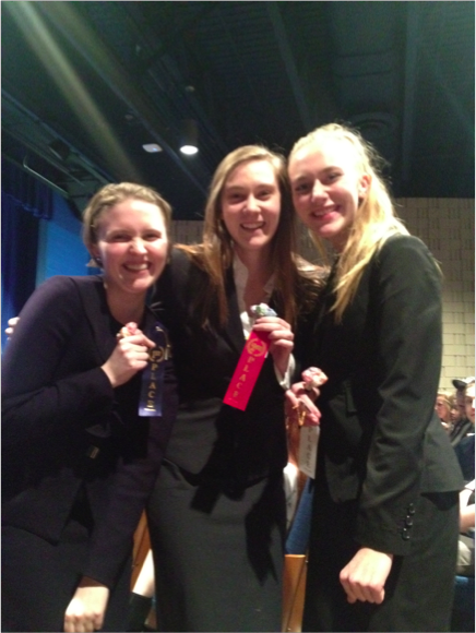 Junior Laura Shannon (left) placed first at both the conference and section tournament, only to be shaken up at State by a plagiarism scandal.