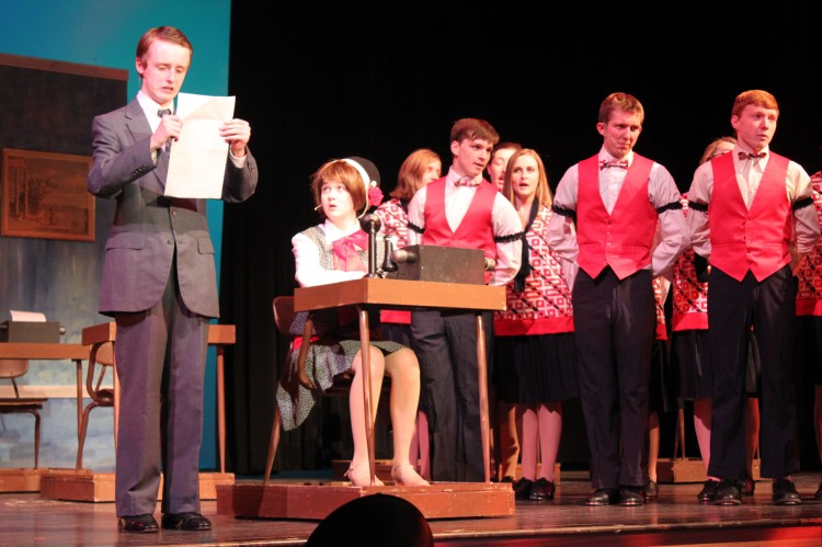 """Students in this year's spring musical, """"Thoroughly Modern Millie,"""" feed their passion for performing every time they enter the stage."""