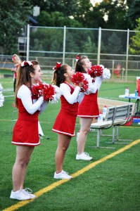 So far, the BSM cheerleaders cheer only at football games.