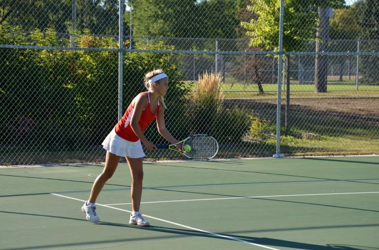 The girls tennis team, who has won conference for the past 17 seasons, struggles to make it past sections due to the Edina team's dominance.