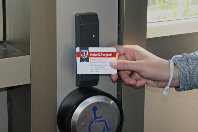 Students and faculty received cards, this week, that will be used to unlock school doors during the day.