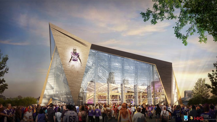 This artist's rendering shows the $975 million dollar stadium, which will be where the current Metrodome is located.