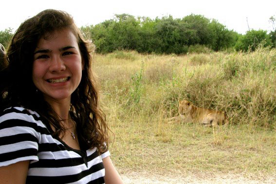 You may assume this picture was taken on a family vacation Jackie took in seventh grade; it wasn't.