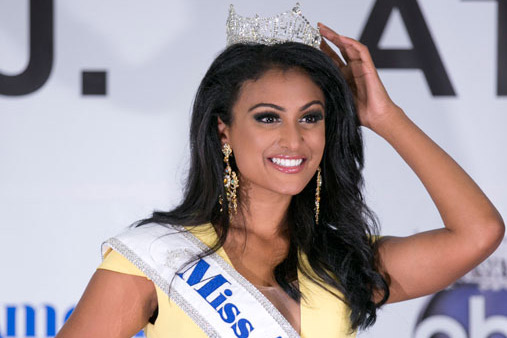 Nina Davuluri, whose parents hail from India, was the contestant from New York.
