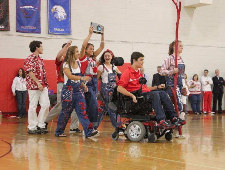 Based on a loose scoring of spirit displays and activity victories, the seniors were given the coveted spirit stick at the end of the week pep fest.