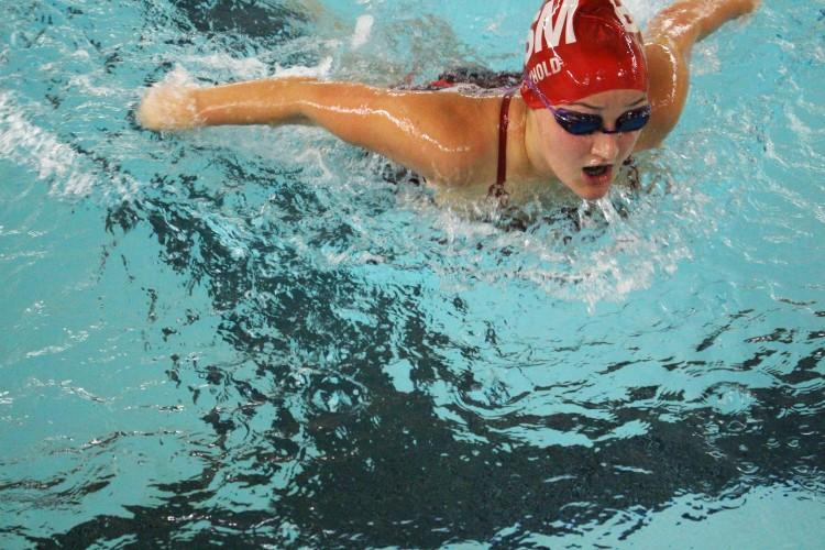 The BSM girls' swim team celebrated multiple successes, including sending four girls to State.