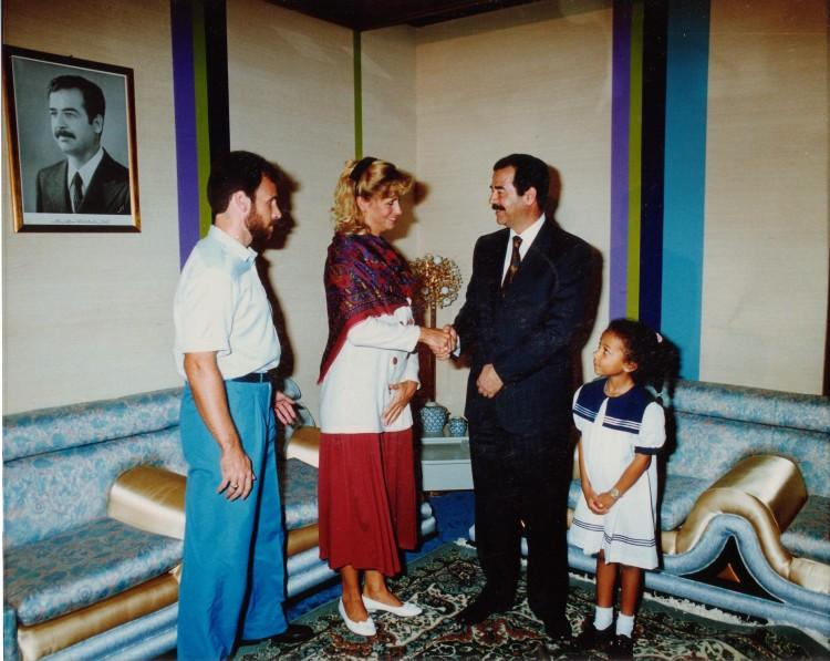 Math teacher Ms. Jean Nightingale has traveled around the globe, even meeting with infamous Iraqui president Sadam Hussein to rescue her husband who was captured in Kuwait by Iraqui soldiers.