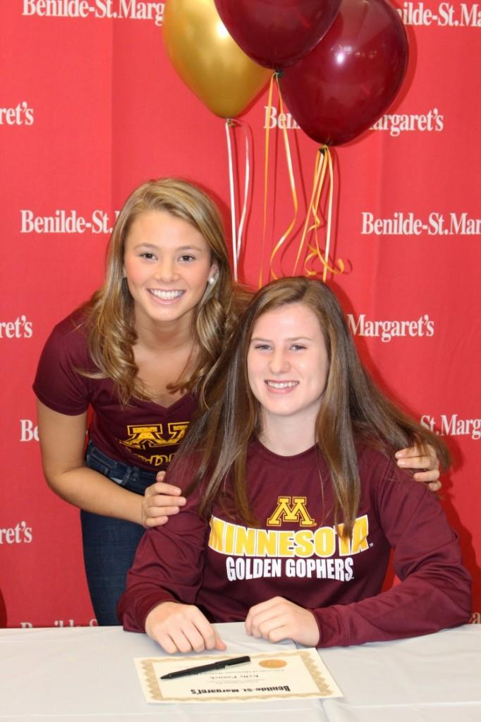 Soccer teammates Grace Coughlin and Kelly Pannek both signed to the U of M, though neither for soccer.