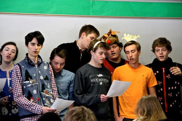 French IV students spent a week rehearsing for performances during fifth period on Friday