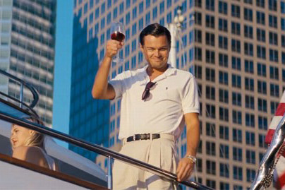 Jordan Belfort's memoir on his time on Wall Street was adapted by Martin Scorsese, starring Leonardo DiCaprio.
