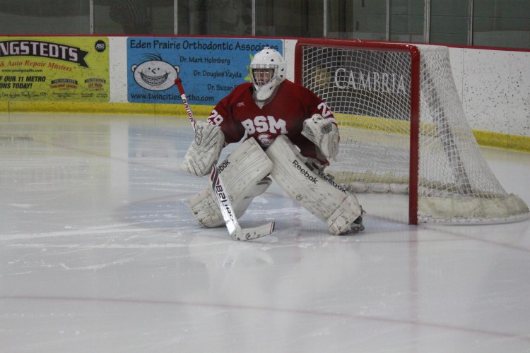 Miller played in every game this season for the Red Knights and was named one of the finalists for the Let's Play Hockey Senior Goalie of the Year award. Her 8-0 win over North Metro last Saturday gave her the state record for shutouts, edging out BSM junior varsity coach Amy Jones.