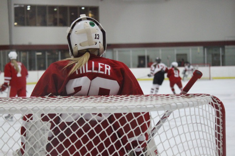 Senior+goalie+Abbey+Miller%2C+who+holds+the+state+record+for+shutouts%2C+aims+to+help+the+Red+Knights+to+their+first+state+title+in+Class+AA.