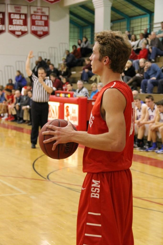 Senior captain Sam Lynch is the leading scorer for the Red Knights with 11.7 points per game