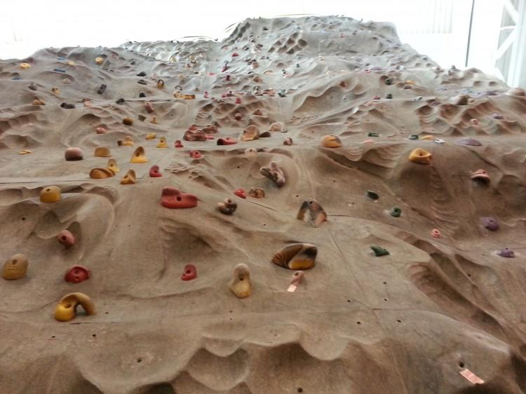 Rock climbing walls can be found at two Lifetime locations, Dicks Sporting Goods, and Vertical Endeavors.