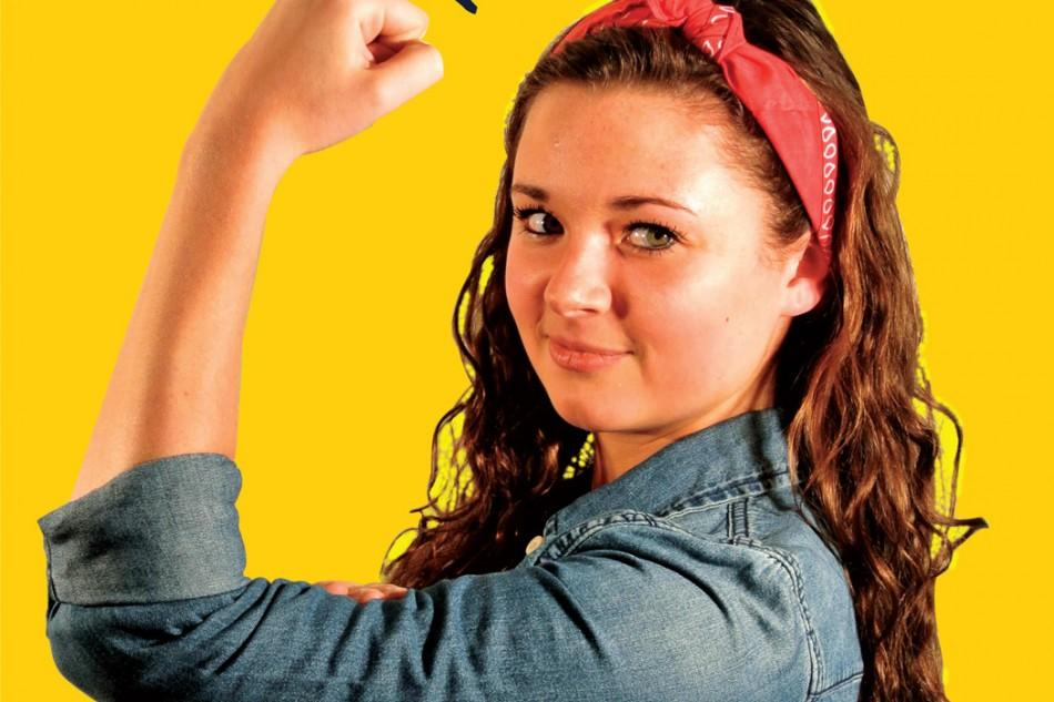 The iconic Rosie the Riveter image has been a symbol of feminism since World War 2.