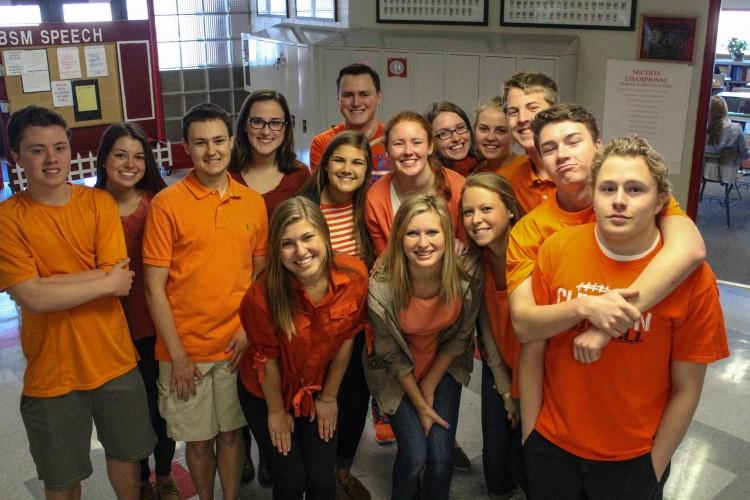 Students+showed+their+support+for+the+St.+Louis+Park-based+McManuses+by+wearing+orange+last+Thursday.+