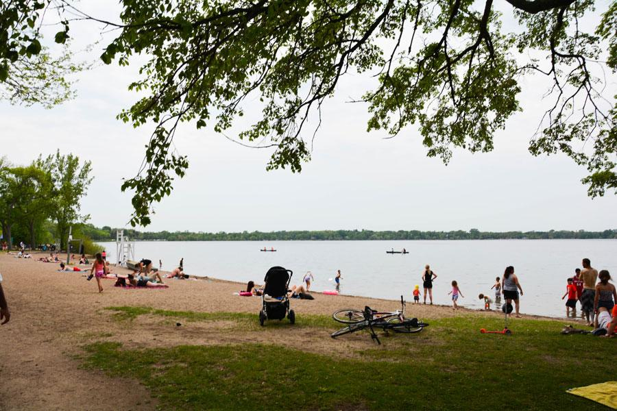 Going to the beach is one of the most popular pastimes of Lake Calhoun goers. Bring a towel and your sun block and head to either one of the two beaches of Lake Calhoun.