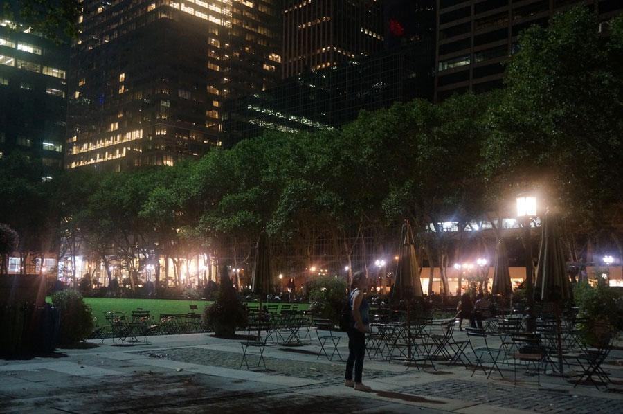 Bryant Park is a peaceful escape from the hustle of the city.