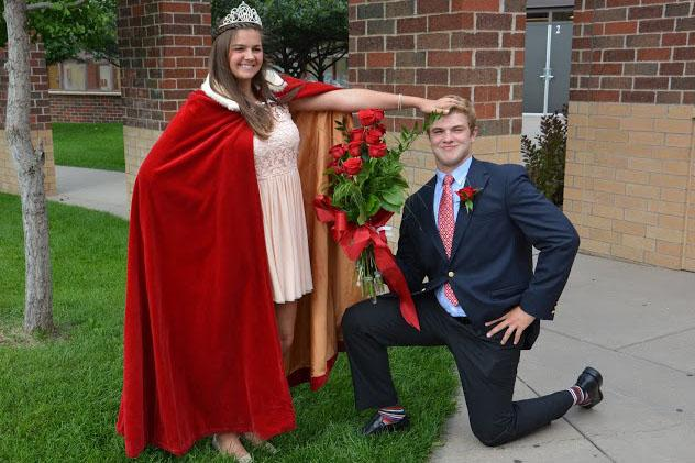 Shelby+Erickson+and+Jay+Weber+announced+as+homecoming+royalty.