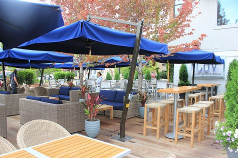 Cov's vast patio fully takes advantage of the previously wasted space.