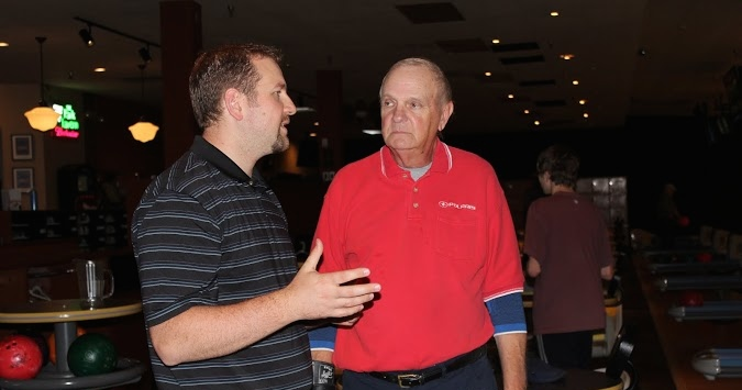 Bowling coaches Mr. John Sabol and Mr. Doug Burnikel discuss their ambitions for the program while at a team practice.