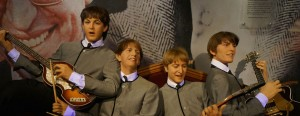 Madame Tussauds displays wax figures of popular celebrities, like The Beatles.