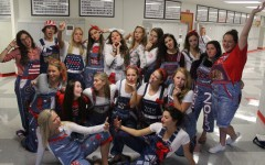 BSM Homecoming week: senior girls' overalls