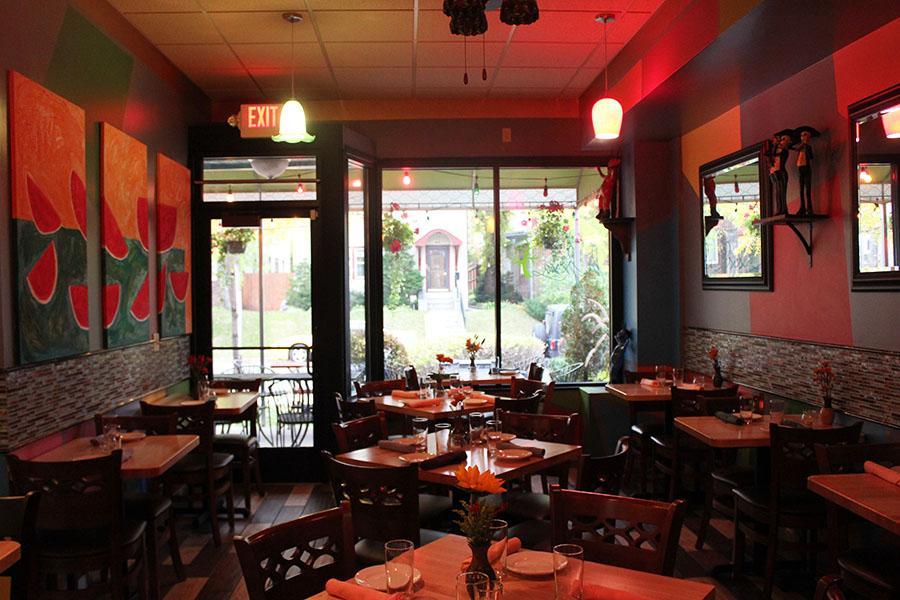 Ruiz's restaurants have warm and unfussy decor.
