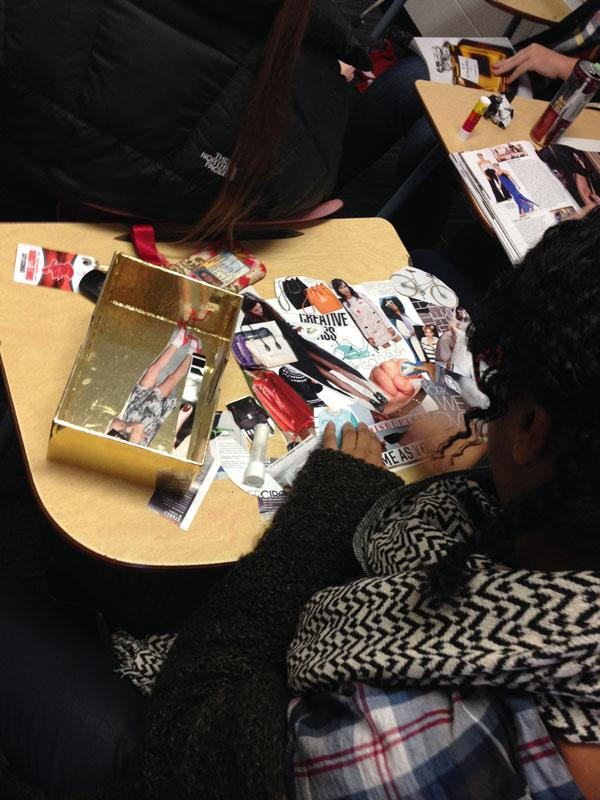 Students in style society create mood boards to showcase their unique styles.