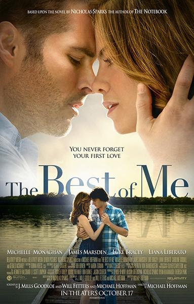 Best of me is the most recent movie installment of Sparks' famous romance novels.