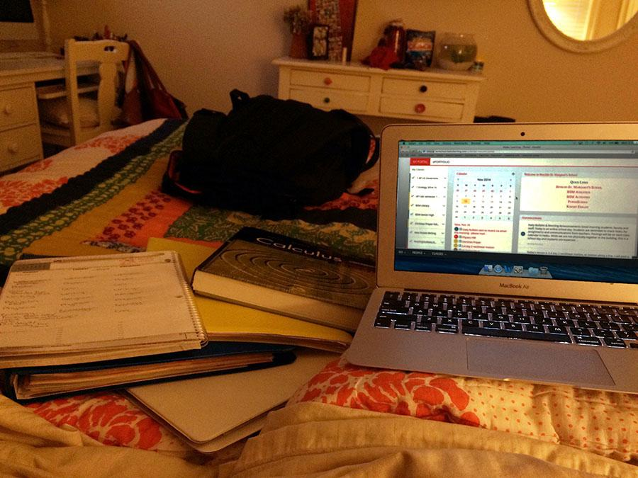 Online+school+has+left+BSM+students+bombarded+with+busy+work+and+stress+on+days+that+they+should+be+relaxing.