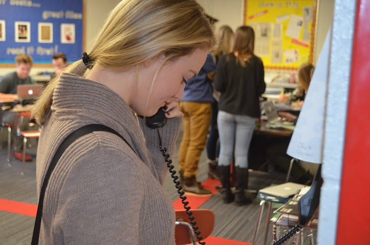 Students were unable to use the main phone lines this morning, but with the help of professionals, the problem was solved before midday.
