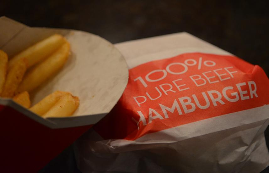 Although looking scrumptious and satisfying, these fries and burger are filled with artificial ingredients.