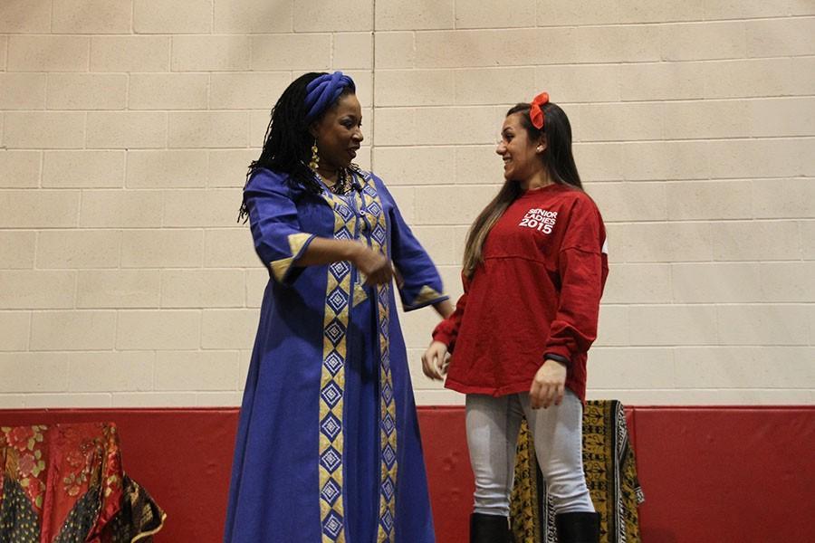 Jansen pulled senior Saige Fehresti onstage with her during her inspiring and interactive speech.