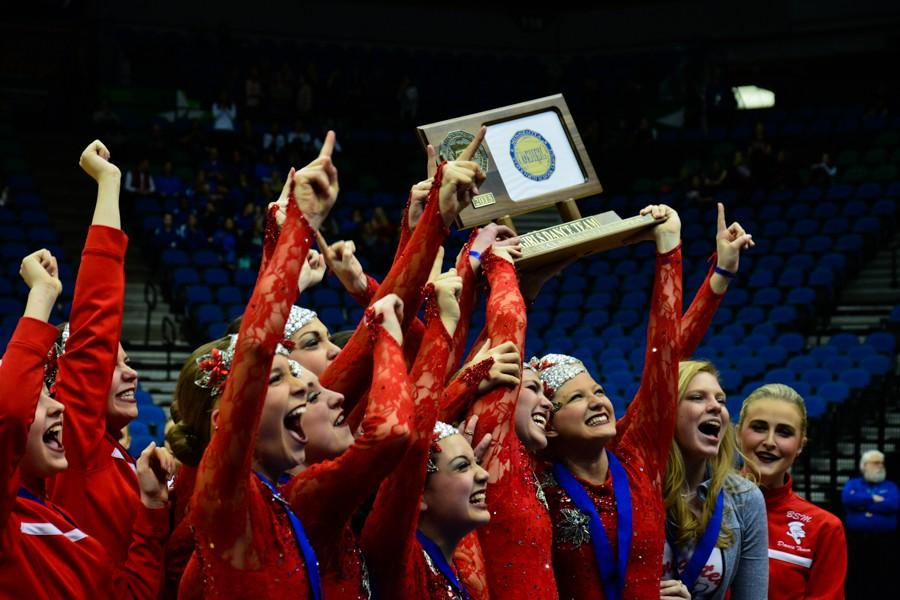 Dance team takes home coveted State Jazz title; places 4th in Kick