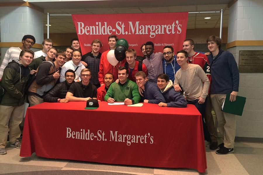 Two seniors sign to play Division I college athletics