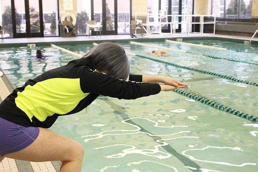 As Long's cosplay character Nitori is a swimmer, Long finds herself in character at the pool. She meets many people as Nitori, all with an equal passion for hand-making the costumes and attending conventions.