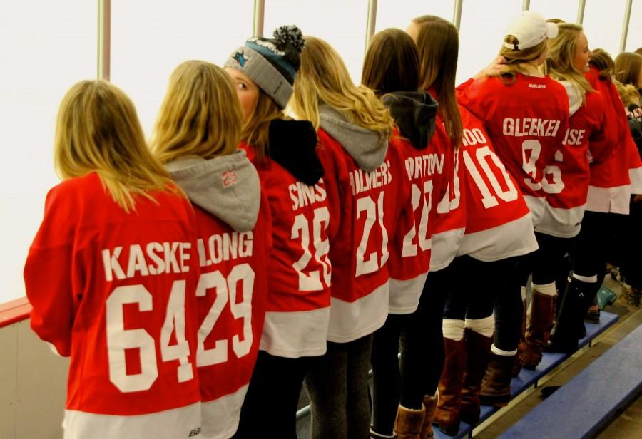 The+Superfan+jerseys+have+served+as+a+bond+between+21+girls+at+hockey+games%2C+and+have+also+created+a+new+method+of+fandom.