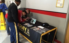 US Army recruiters speak to BSM students