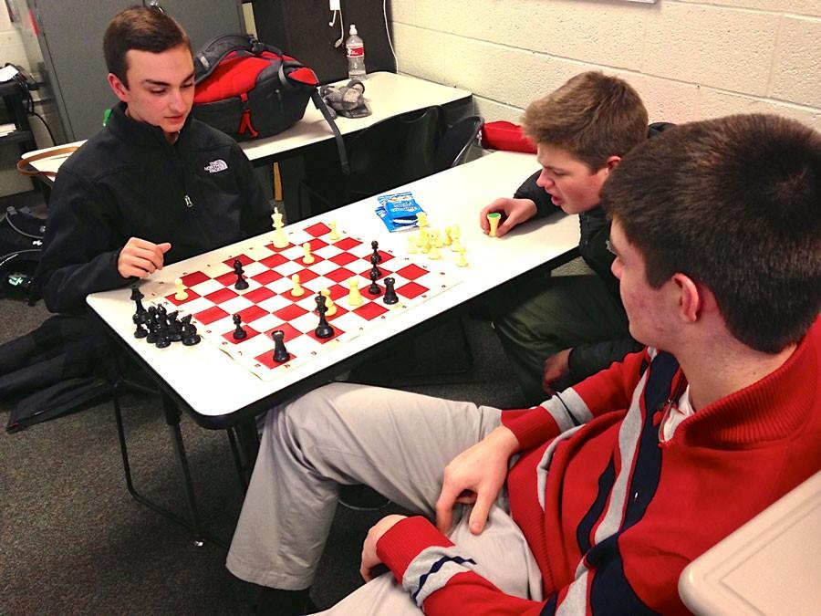 Members of the chess club compete in order to gain a better understanding of the game and perfect their skills.