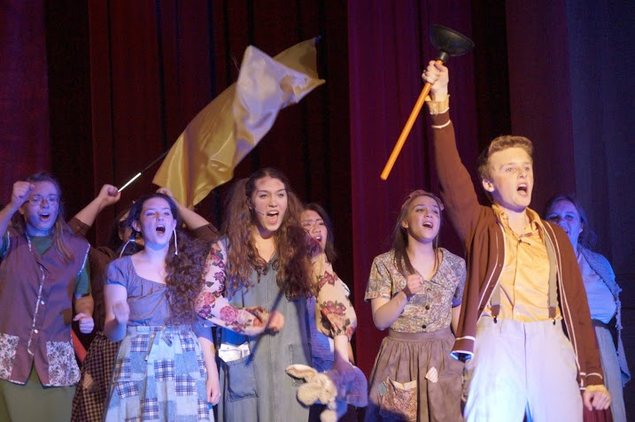 The cast of Urinetown has received multiple Spotlight Awards. (photo courtesy of Joe Blake)