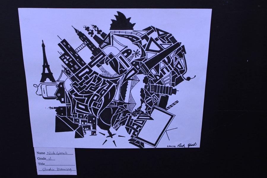 Nick+Gionet%27s+detailed+drawing+displayed+in+the+BSM+Art+Fair.