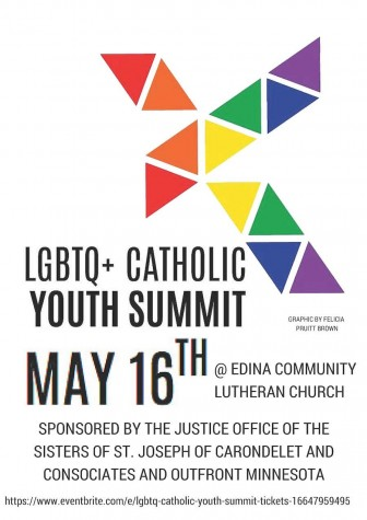 Graphic from the LGBTQ+ Catholic Youth Summit created by Felicia Pruitt Brown
