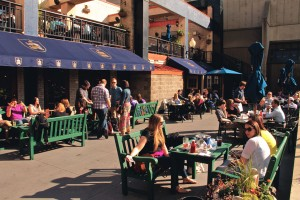 Brit's Pub is another another great option for patio dining.