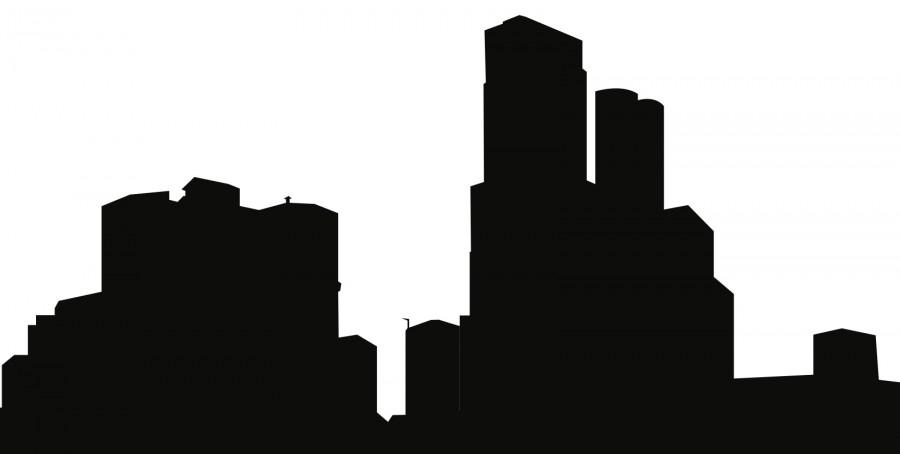 An urban skyline beckons to the daring adventurers.