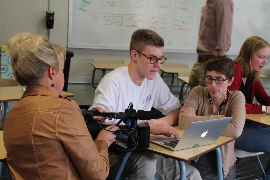 Kare11 visited BSM's journalism classes to interview students about the effects of the Eyesafe screen covers.